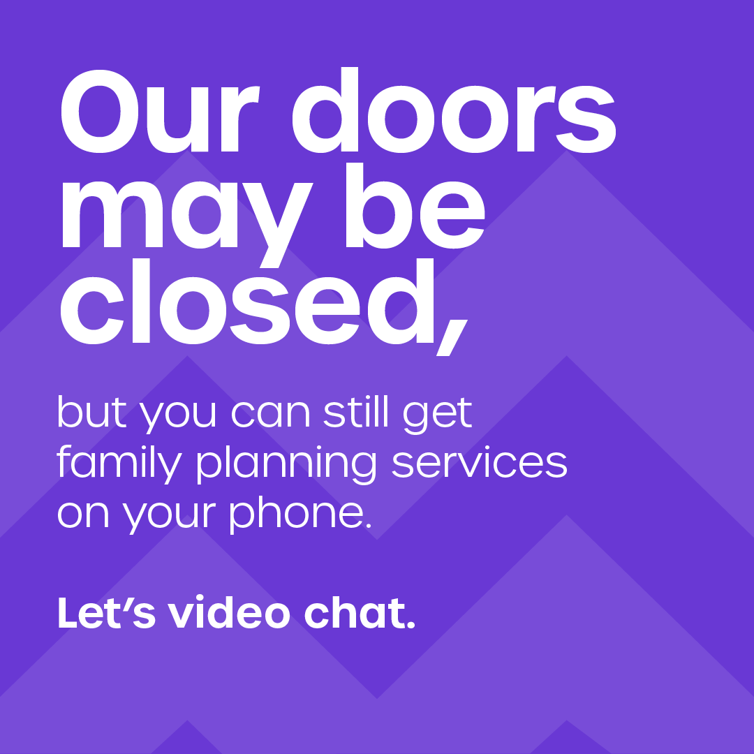 Graphic with title text: Our doors may be closed,