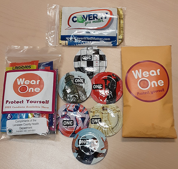 Photo of packages of condoms